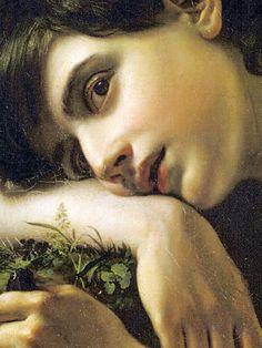 """detailedart: """"Detail (2/x) of A Young Gardener (1817), by Orest Kiprensky. """""""