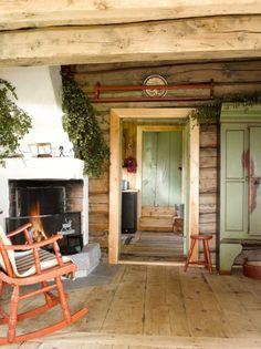 Cabin Homes, Log Homes, Van Design, House Design, Interior Styling, Interior Decorating, Interior Design, Scandinavian Cabin, Fishermans Cottage