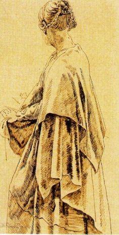 Friedrich, Caspar David - Woman in Shawl - Romanticism