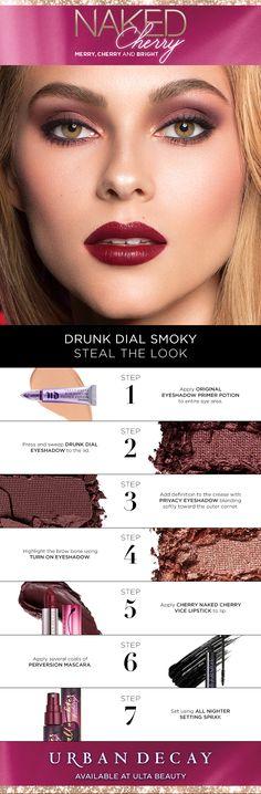 Naked Cherry has your Holiday Smoky Eye covered 🍒 - Urban Decay - Makeup Inspo, Makeup Inspiration, Makeup Tips, Beauty Makeup, Eye Makeup, Hair Makeup, Makeup Ideas, Makeup Tutorials, Smoky Eye