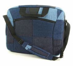 Made with unsold denim jeans. Functional green gift for students.