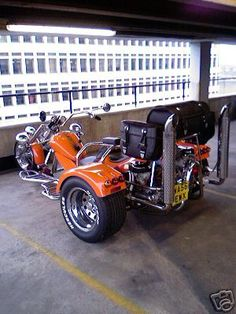 Built in 1998 this is a fully automatic, 1300cc Metro engined trike, powder coated frame, with steering damper, a heavy duty boxed section luggage rack with tow eye and socket. Description from motorbike-search-engine.co.uk. I searched for this on bing.com/images