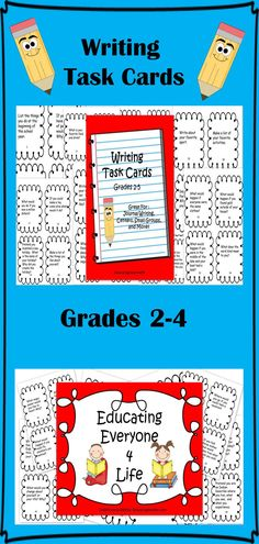 Task Cards Writing: Grades 2-4