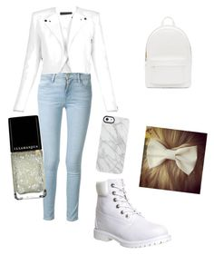 """""""Winter is coming! Get ready"""" by danacakes-1 on Polyvore featuring Timberland, Frame Denim, BCBGMAXAZRIA, PB 0110, Uncommon and Illamasqua"""