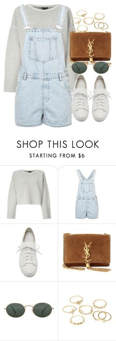 """Untitled #5111"" by olivia-mr ❤ liked on Polyvore featuring Topshop, Santoni, Yves Saint Laurent, Ray-Ban and Charlotte Russe"
