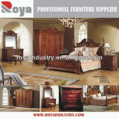 European Style Solid Wood Carving Antique Bedroom Set Ex02 - Buy Bedroom Set,Bedroom,Bed Product on Alibaba.com