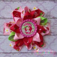 Strawberry Shortcake Loopy Flower Hair Bow-