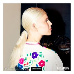 #backstage #ponytail by #TRESemmé #MBFW #SS15