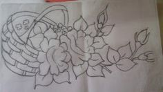 Pincel que brilha : Riscos da vídeo aula. Embroidery Patterns, Hand Embroidery, Painting Templates, Diy And Crafts, Projects To Try, Sketches, Drawings, Flowers, Tattoos