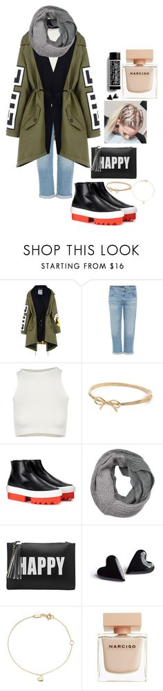 """""""Untitled #84"""" by wtwear ❤ liked on Polyvore featuring Moschino, AG Adriano Goldschmied, Free People, Kate Spade, Givenchy, Melie Bianco, Estella Bartlett and Narciso Rodriguez"""