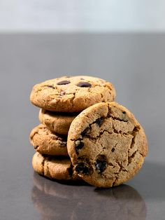 Perfect Paleo chocolate chip cookies, made with almond flour and a bit of coconut flour for structure. They'll satisfy your sweet tooth and your appetite, too!