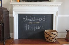 chalboard fireplace
