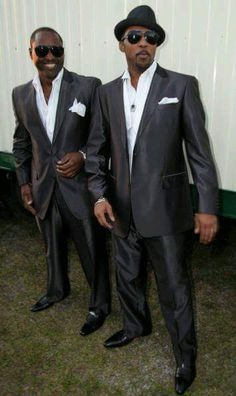 Johnny Gill & Ralph Tresvant  <3 Looking handsome...