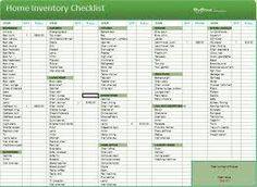 Home Inventory Worksheets - keep track of valuable possessions and ...
