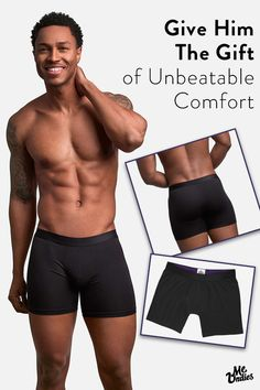 The perfect gift for you and your guy - the world's most comfortable underwear by MeUndies.  Made from the softest modal fabrics, this underwear is anything but basic. Shipping is free, and satisfaction is 100% guaranteed: love your first pair of MeUndies or it's free, no questions asked. You'll thank us later. Try MeUndies today.