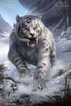 The Elders Scrolls Legends, Lemon Sky Studios - Amur Leopard Mythical Creatures Art, Mythological Creatures, Fantasy Creatures, Dark Fantasy Art, Fantasy Artwork, Final Fantasy, Big Cats Art, Cat Art, Art Tigre