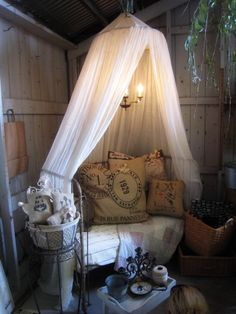 I may have to put up bed netting for a porch bed.