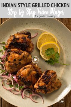 Grilled Food, Grilled Chicken Recipes, Marinated Chicken, Tandoori Chicken, Chicken Biryani Recipe Hyderabadi, Grilling Recipes, Cooking Recipes, Lamb Chop Recipes, Look And Cook