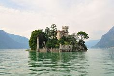 Loreto Castle  Pescara, Abruzzo, Italy    Nothing to see here… just a private island with a little castle on it… paddle along.