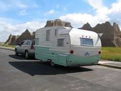 1963 Shasta Airflyte, Badlands National Park, South Dakota.