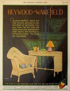 Art Deco Ad for Heywood Wakefield