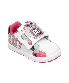 104ed578299fe White   Pink Charade Robot Unilite Sneaker by DC Charades