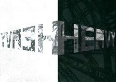 Creative typography, response to the word 'Heavy', Word association project. Using textures from Glasgow's industrial riverside and typeface inspired by Russian constructivism.
