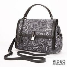 PAVA Paisley Leather Convertible Crossbody Bag