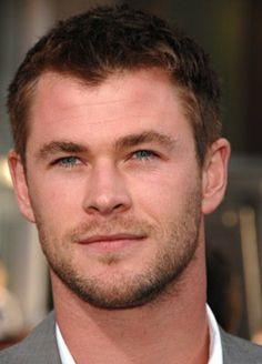 Chris Hemsworth. may I say you have some dashing eyelashes