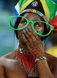 a disappointed South African fan World Cup 2014, Fifa World Cup, Folk Dance, Red Green Yellow, Girls World, Zimbabwe, Football Fans, Countries Of The World, Disappointed