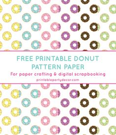 Free Printable Paper from @chicfetti