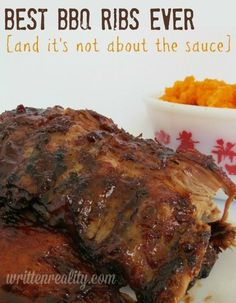 Check out these Best BBQ Ribs Ever! Seriously. They are the best barbecue ribs on the grill you've ever tasted. #Bbqribs