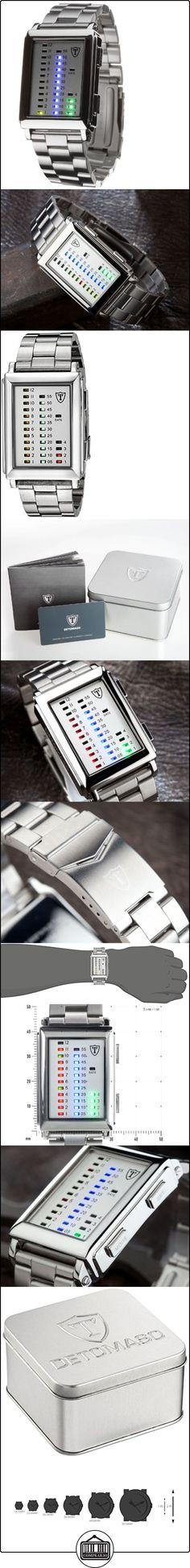 Detomaso Spacy Timeline 1 - Reloj de cuarzo para hombres, con correa de acero inoxidable de color plateado, esfera plateada  ✿ Relojes para hombre - (Gama media/alta) ✿