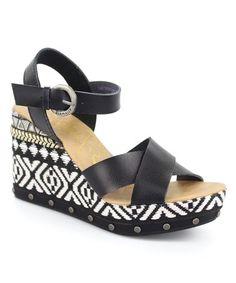 Look at this #zulilyfind! Black Tickle Sandal - Women #zulilyfinds