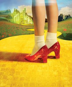 Red Shoes Follow The Yellow Brick Road