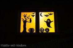 Lasset uns gruseln! Unser Halloween-Fenster! - Aktiv mit Kindern