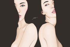 Digital Portraits by Yuschav Arly