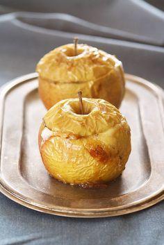 Photo-copy: Gevulde appelen met brie, honing en rozijntjes