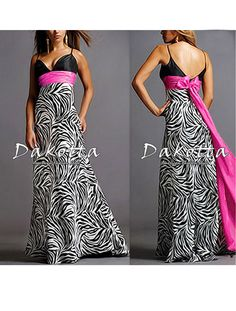 Animal Printed Deeply V-neck Spaghetti Straps Bow Sexy Prom Gown 09010 Size Formal Evening Dresses, Evening Gowns, Strapless Dress Formal, Club Dresses, Girls Dresses, Flower Girl Dresses, Maxi Dresses, Party Dresses, Animal Print Evening Dresses