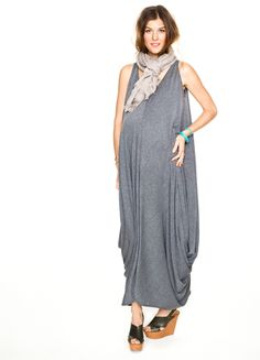 the soiree dress in charcoal grey by hatch collection.
