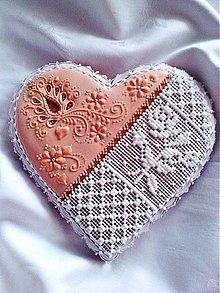 Dekorácie - Medovníkové srdce - 3705283