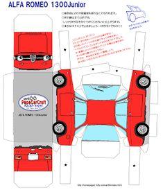 Paper Model Car, Paper Car, Old Paper, Paper Models, Alfa Romeo Junior, Alfa Romeo Gta, Porsche, Audi, Rolls Royce