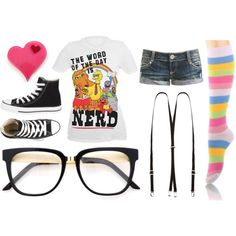 Cute Nerdy Outfit I Would Totally Wear 2 Skool