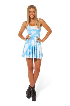Clouds Reversible Skater Dress* XS
