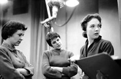 1957 Rehearsal Cinderella_Alice Ghostley, Kaye Ballard, Julie Andrews and Ilka Chase