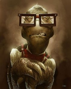 Nertle The Nerdy Turtle   Illustration Art   The Design Inspiration
