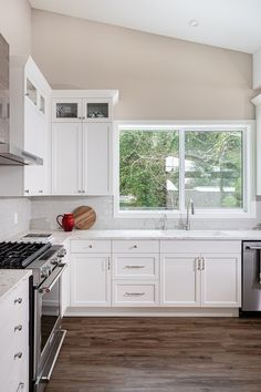 Kitchen renovation by Madeleine Design Group in Vancouver, BC. *Re-pin to your inspiration board* Inspiration Boards, Vancouver, This Is Us, Kitchen Cabinets, Group, Interior Design, Home Decor, Madeleine, Nest Design