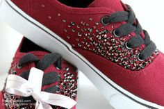 Canvas sneakers embellished with Swarovski crystals by Christine Murphy Designs