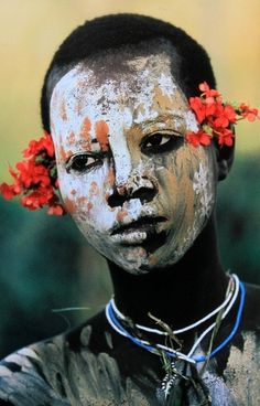Surma boy. Omo Valley, Ethiopia by Hans Silvester