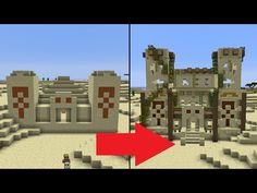 Let's Transform a Minecraft Desert Temple! - YouTube